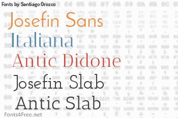 Santiago Orozco Fonts
