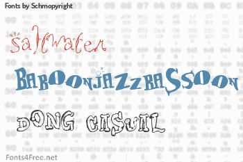 Schmopyright Fonts