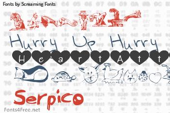 Screaming Fonts Fonts
