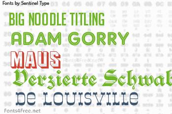 Sentinel Type Fonts