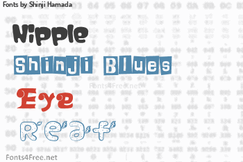 Shinji Hamada Fonts