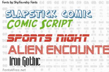 ShyFoundry Fonts Fonts