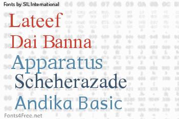 SIL International Fonts