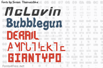 Simon  Thomaschke Fonts