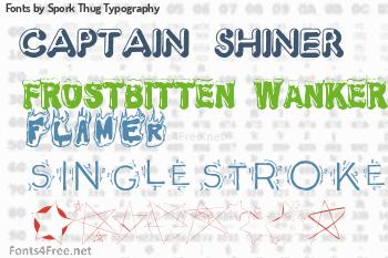 Spork Thug Typography Fonts