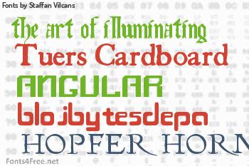 Staffan Vilcans Fonts
