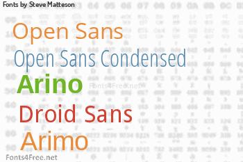 Steve Matteson Fonts