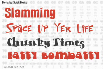 Stick Fonts Fonts