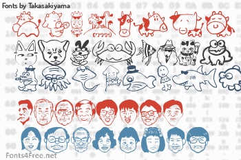 Takasakiyama Fonts