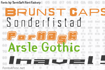 TarmSaft Font Factory Fonts