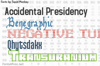 Tepid Monkey Fonts