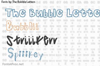 The Bubble Letters Fonts