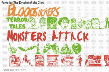 The Empire of the Claw Fonts