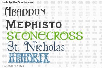 The Scriptorium Fonts