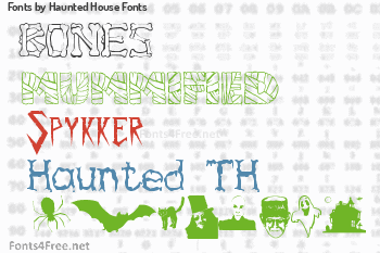 Haunted House Fonts Fonts