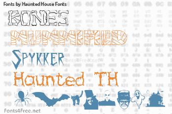 Haunted House Fonts Fonts