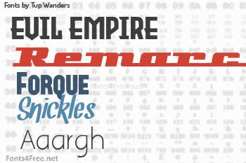 Tup Wanders Fonts