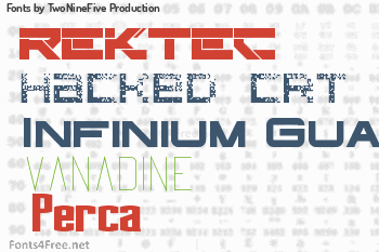 TwoNineFive Production Fonts