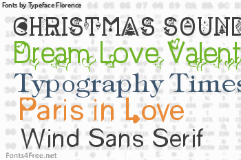 Typeface Florence Fonts