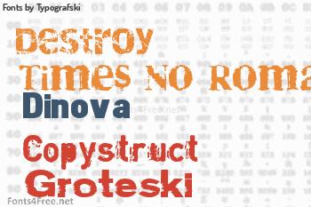 Typografski Fonts