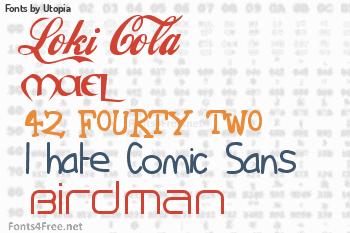 Utopia Fonts