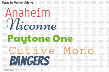 Vernon Adams Fonts
