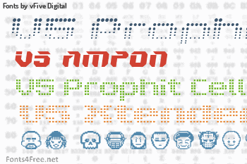 vFive Digital Fonts