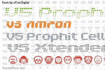 vFive Digital Fonts