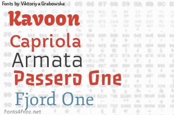 Viktoriya Grabowska Fonts