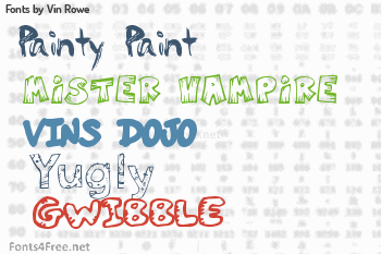 Vin Rowe Fonts