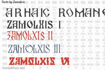 Zamolxis Fonts