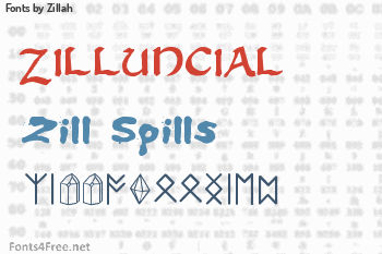 Zillah Fonts