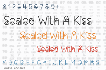 Sealed With A Kiss Font