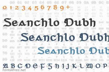 Seanchlo Dubh Font