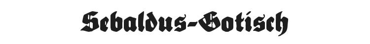 Sebaldus-Gotisch Font Preview