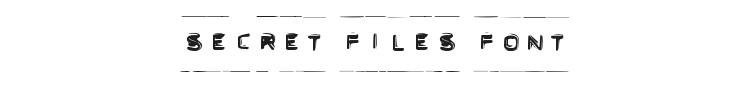 Secret Files Font Preview