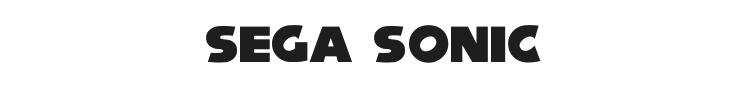Sega Sonic Font Preview