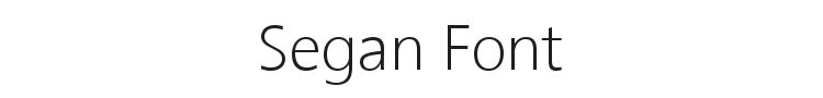 Segan Font Preview
