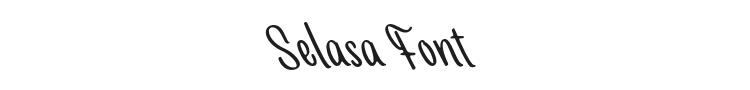 Selasa Font Preview