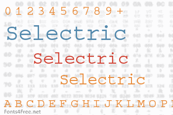 Selectric Font
