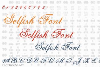 Selfish Font