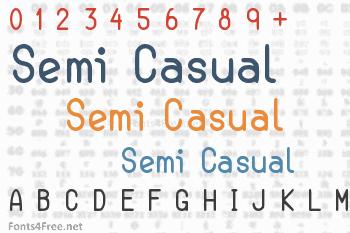 Semi Casual Font
