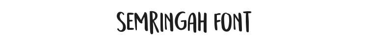 Semringah Font Preview