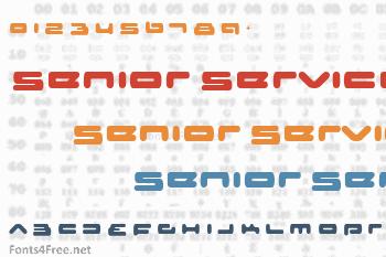 Senior Service Font