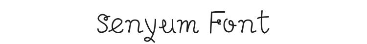 Senyum Font Preview