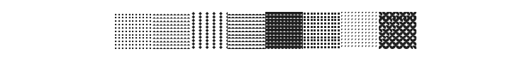 Serangkaian Pattern Font Preview