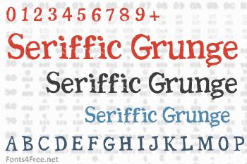 Seriffic Grunge Font
