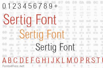 Sertig Font