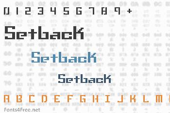 Setback Font