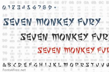 Seven Monkey Fury Font